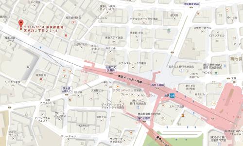 はんこ屋さん21 池袋2丁目店店 地図